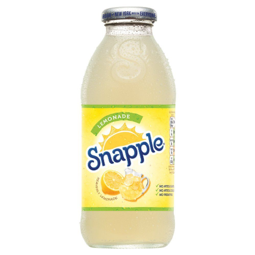 Snapple Lemonade 473ml Glass (UK)